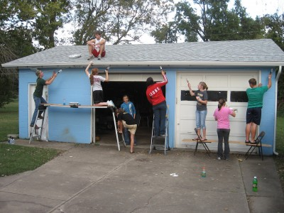 Youth House Painting 1 - Youth Service Projects